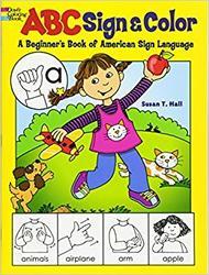 Fargeleggingsbok med ASL (American Sign Language/ Amerikansk tegnspråk) kr 79,-