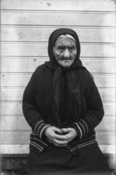 """""""Martha Ræstad født. 13.10.1827 fotografert 06.10.1929"""". Mar"""