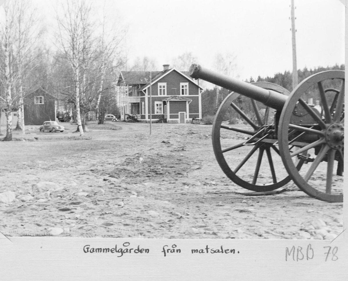 Gammelgården, Stagården, i Bollnäs sedd från matsalen.