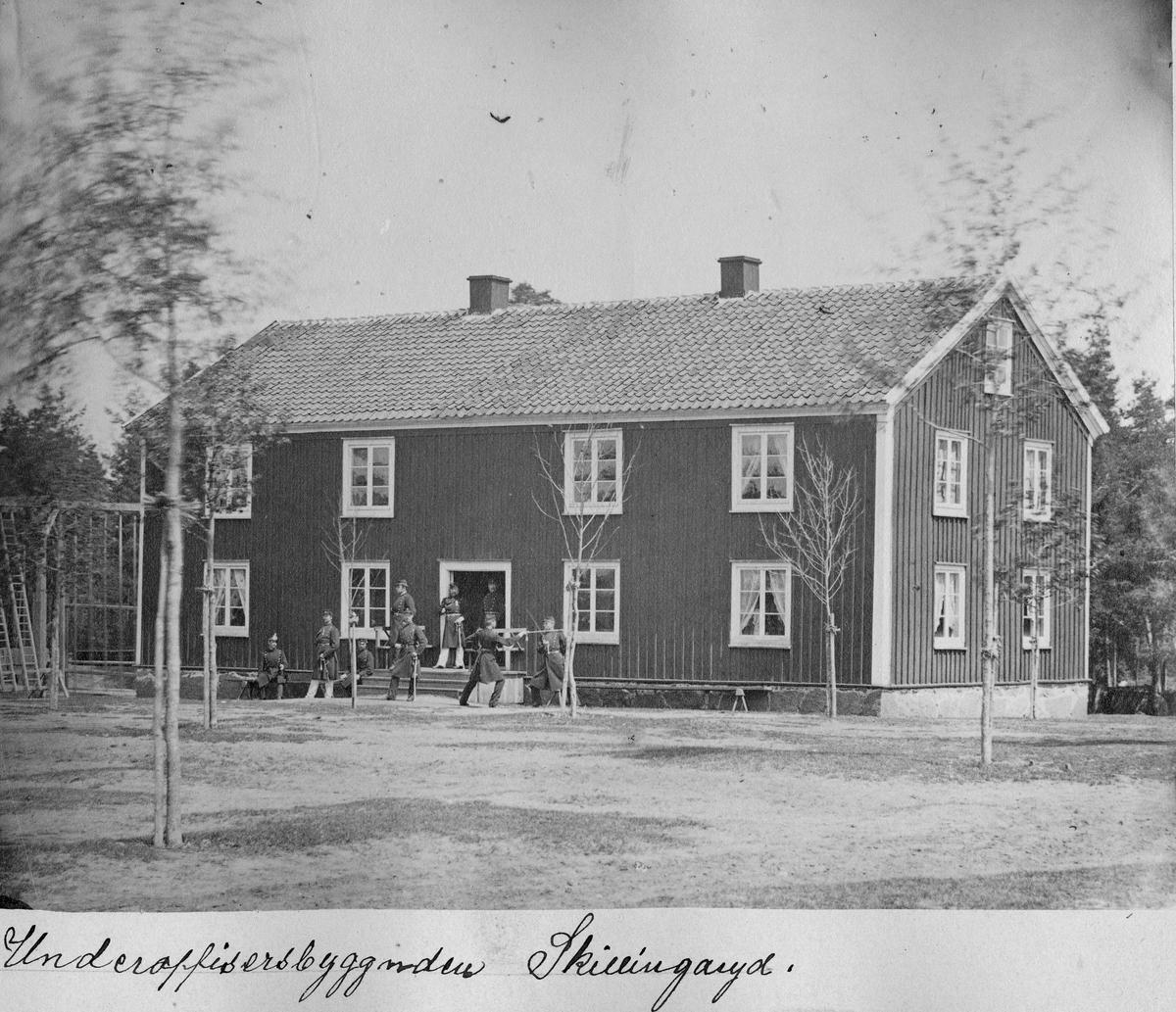 Underofficersbyggnaden vid Skillingaryds skjutfält.