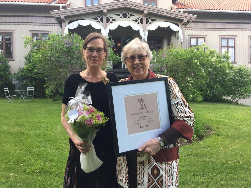 Kvinnemuseets hederspris 2017 til Torild Skard (Foto/Photo)