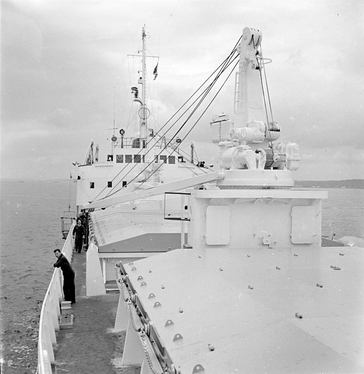 Den 24 juni 1963. Gävle Varv. M/S Nova. Ingenjör Cedergren.