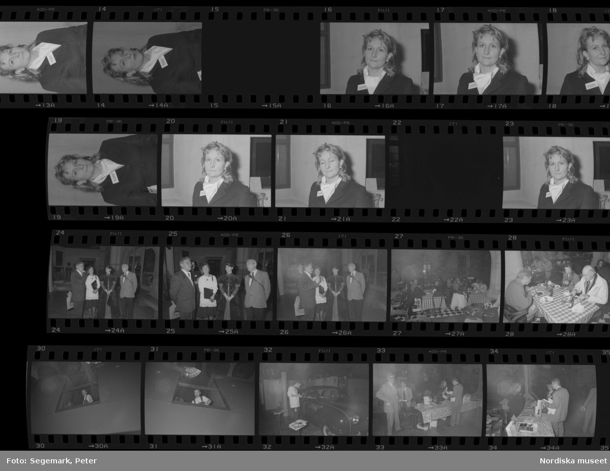 """Pressvisning av utställningen """"Den Svenska Historien"""" på Nordiska museet. Carolin Virgin-Björkman, informationsansvarig för utställningen."""