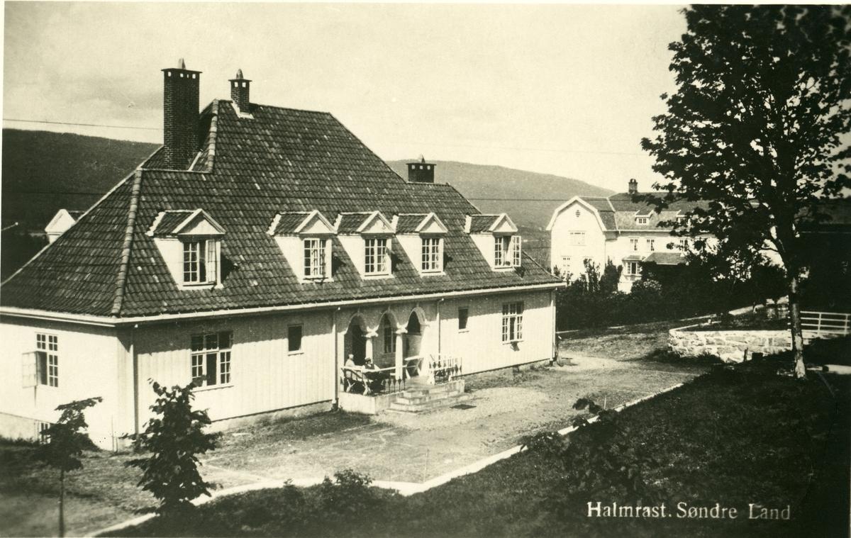 Postkort med motiv av Halmrast, Søndre Land.