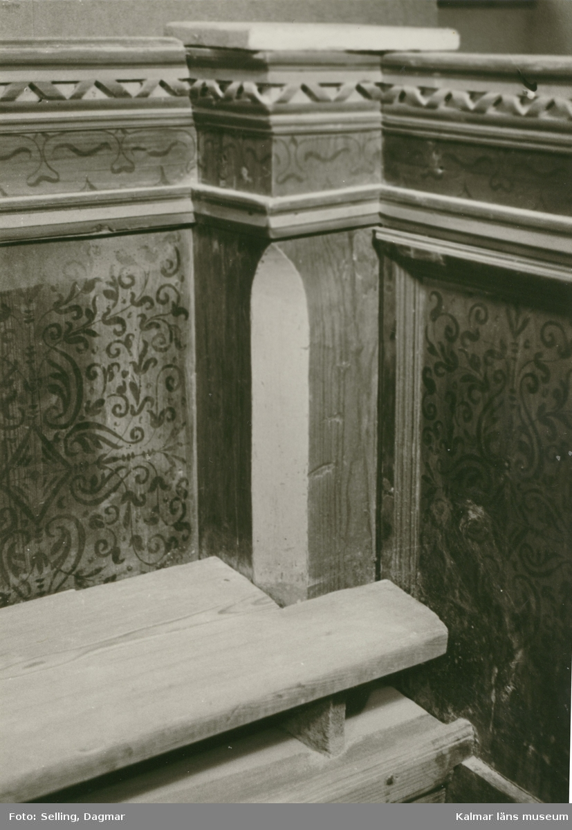 Foto:D.Selling 1969 Norra gaveln. Insidan. + SV hörnet