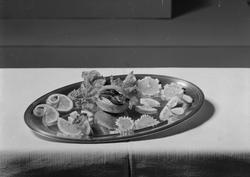 Matuppläggning - Fackskolan för huslig ekonomi, Uppsala 1936