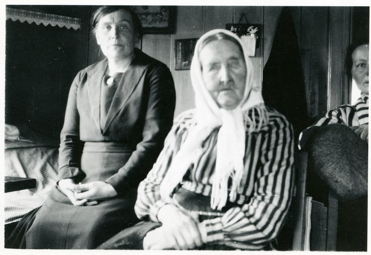 Marit Fønhus og Ingebjørg Olsd. Islandsmoen.