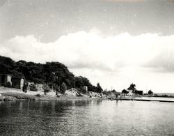 Vy över badplats och lotsplats 1944.