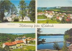 """Småland Västra Eds socken Edsbruk  """"Hälsning från Edsbru"""