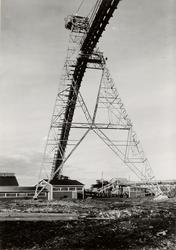 Luleå Trämassefabrik. Del av uppfordringsverk för slipved (K