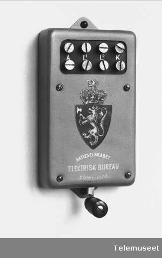 Telefonutstyr, linjevender for 2 d.l. Se foto 292. Elektrisk Bureau.
