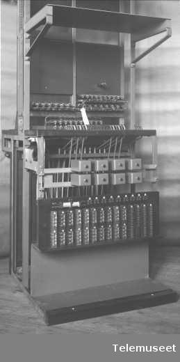 Telefonsentral, langlinjebord for Asti, baksiden. 13.4.1915. Elektrisk Bureau.