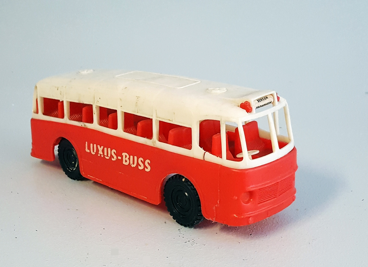 Leiketøybuss i 2 fargar