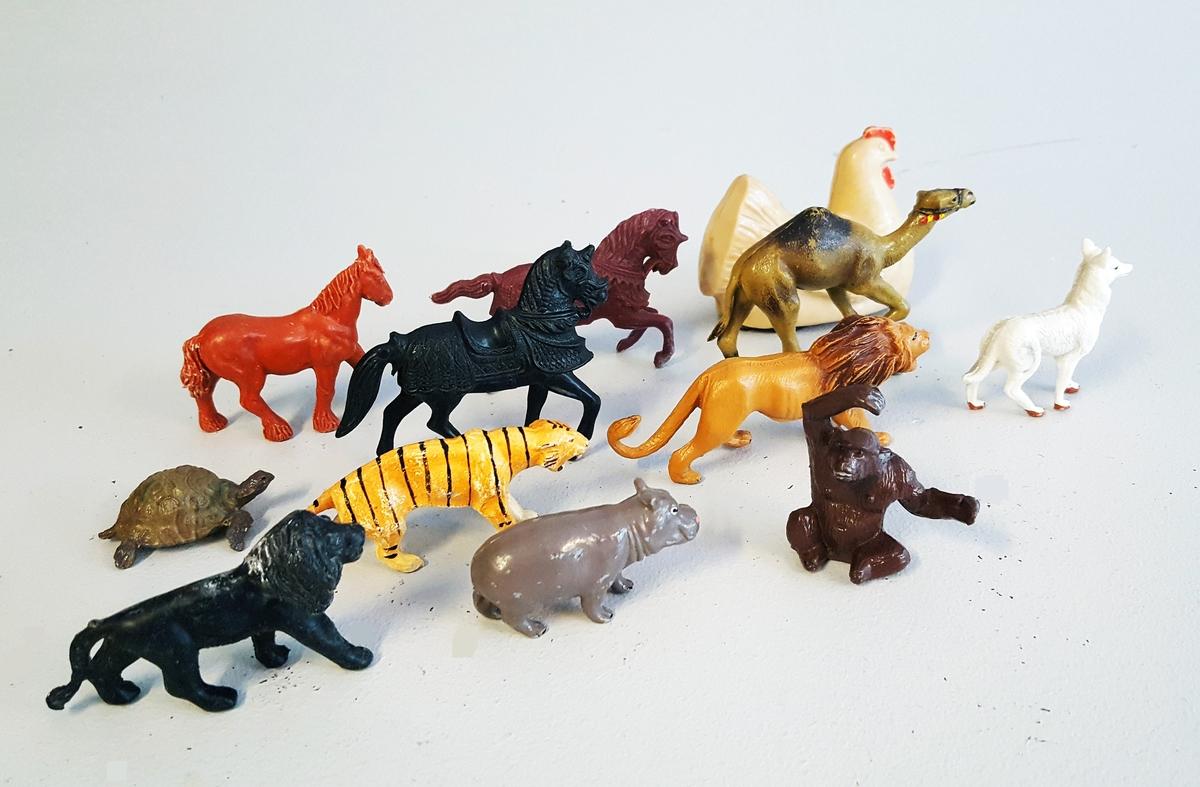 Løve - Hest - Hund - Ape - Flodhest - Tiger -Kamel - Skilpadde - Høne