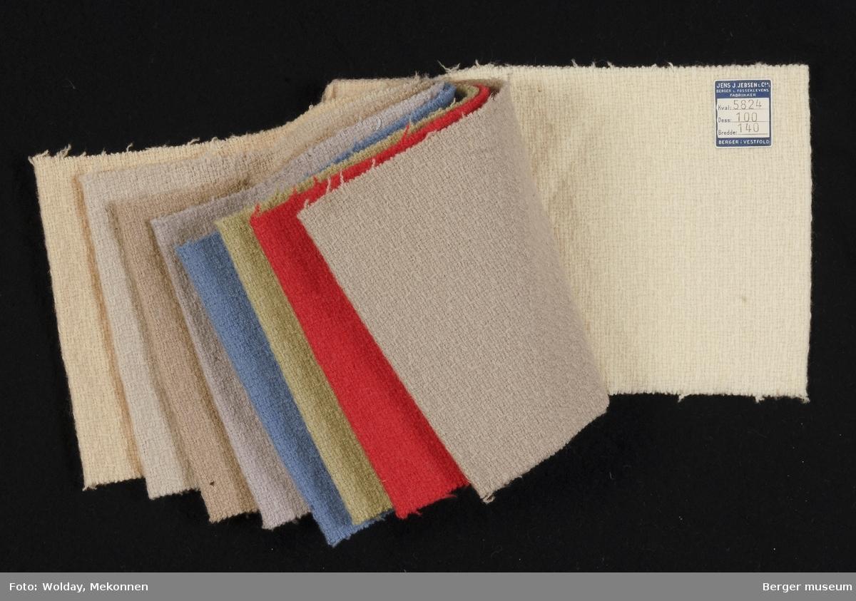 Prøvehefte med 9 prøver Kåpe Kvalitet 5824 Stykkfarget
