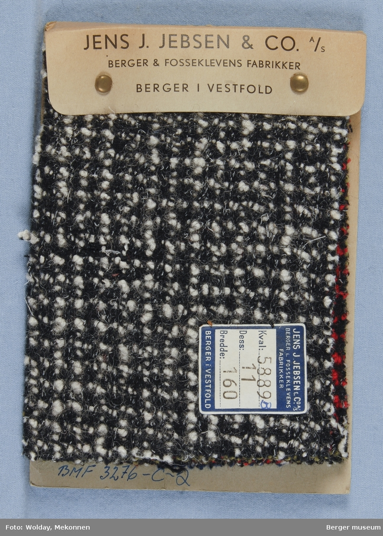 Prøvehefte med 7 prøver Drakt, bekledning Kvalitet 5889B Melert, rutet