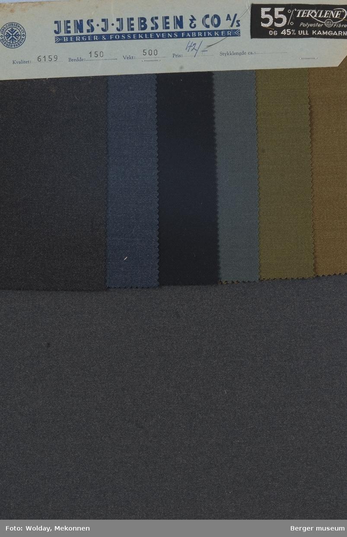 Prøvehefte med 6 prøver Uniformsstoff Kvalitet 6159 Melert