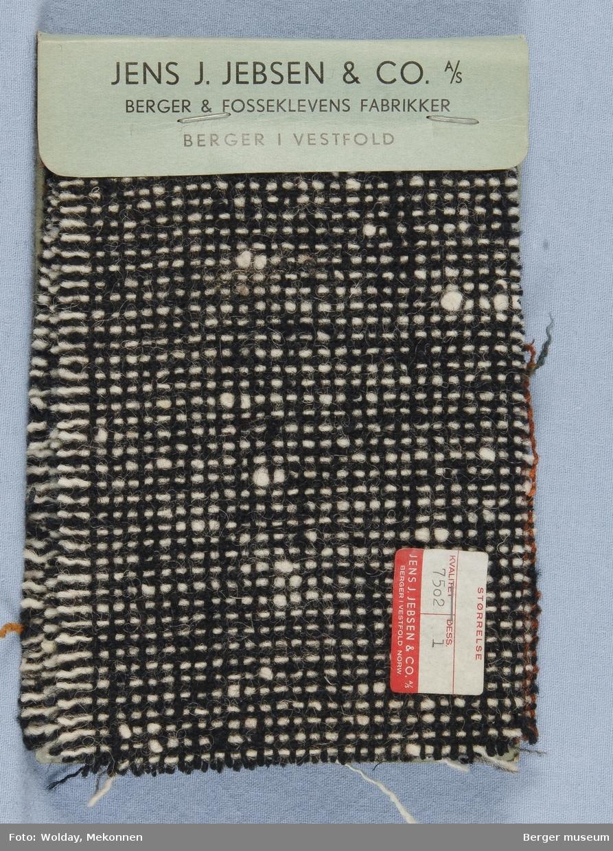 Prøvehefte med 8 prøver Kåpe Kvalitet 7502 Melert
