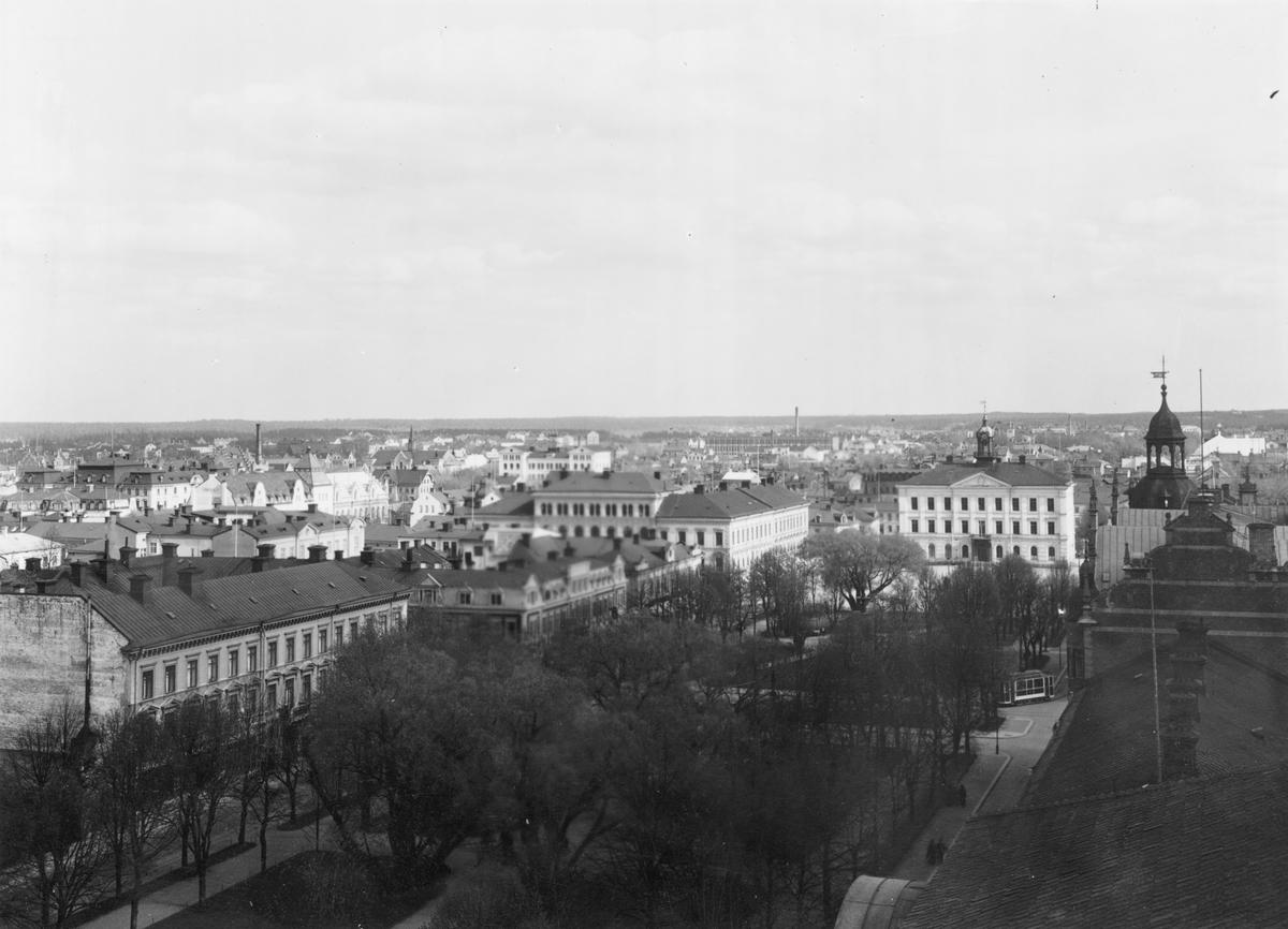 Gävle stad – Norr, Esplanaden. Panorama över Esplanaden och Rådhuset mot söder.