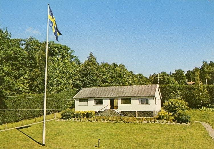 "Enligt Bengt Lundins noteringar: ""Margaretahemmet. Axels stuga""."