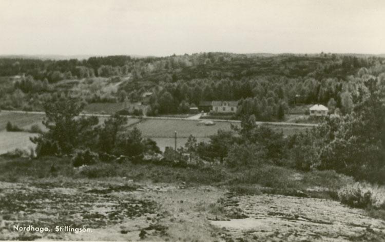"""Enligt Bengt Lundins noteringar: """"Stillingsöns inland. Nordhaga""""."""