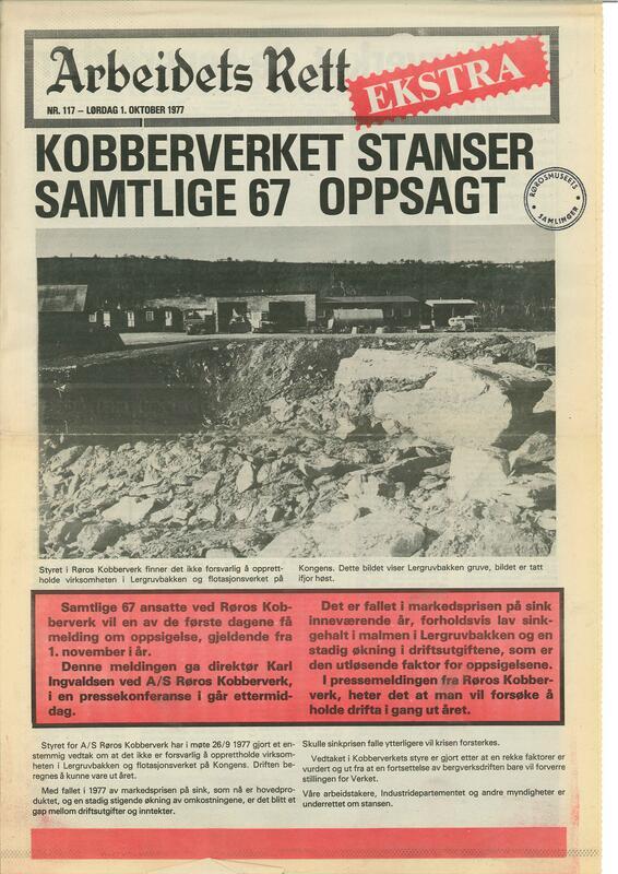 Arbeidets Rett Kobberverkets konkurs