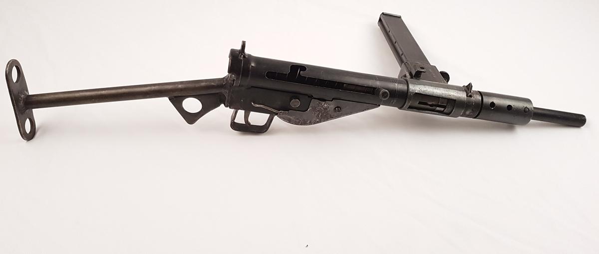 Maskinpistol, Stengun med magasin 9 mm.
