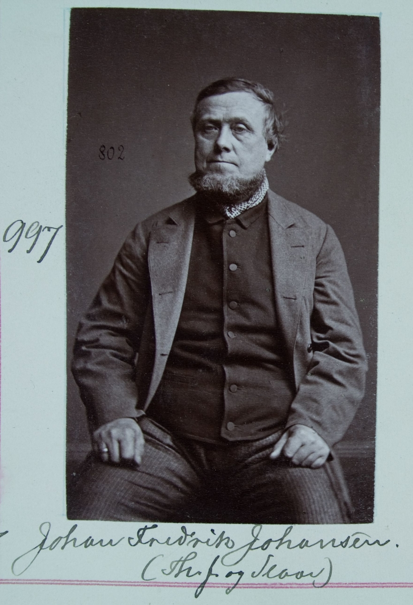 Fangeportrett, Johan Fredrik Johansen