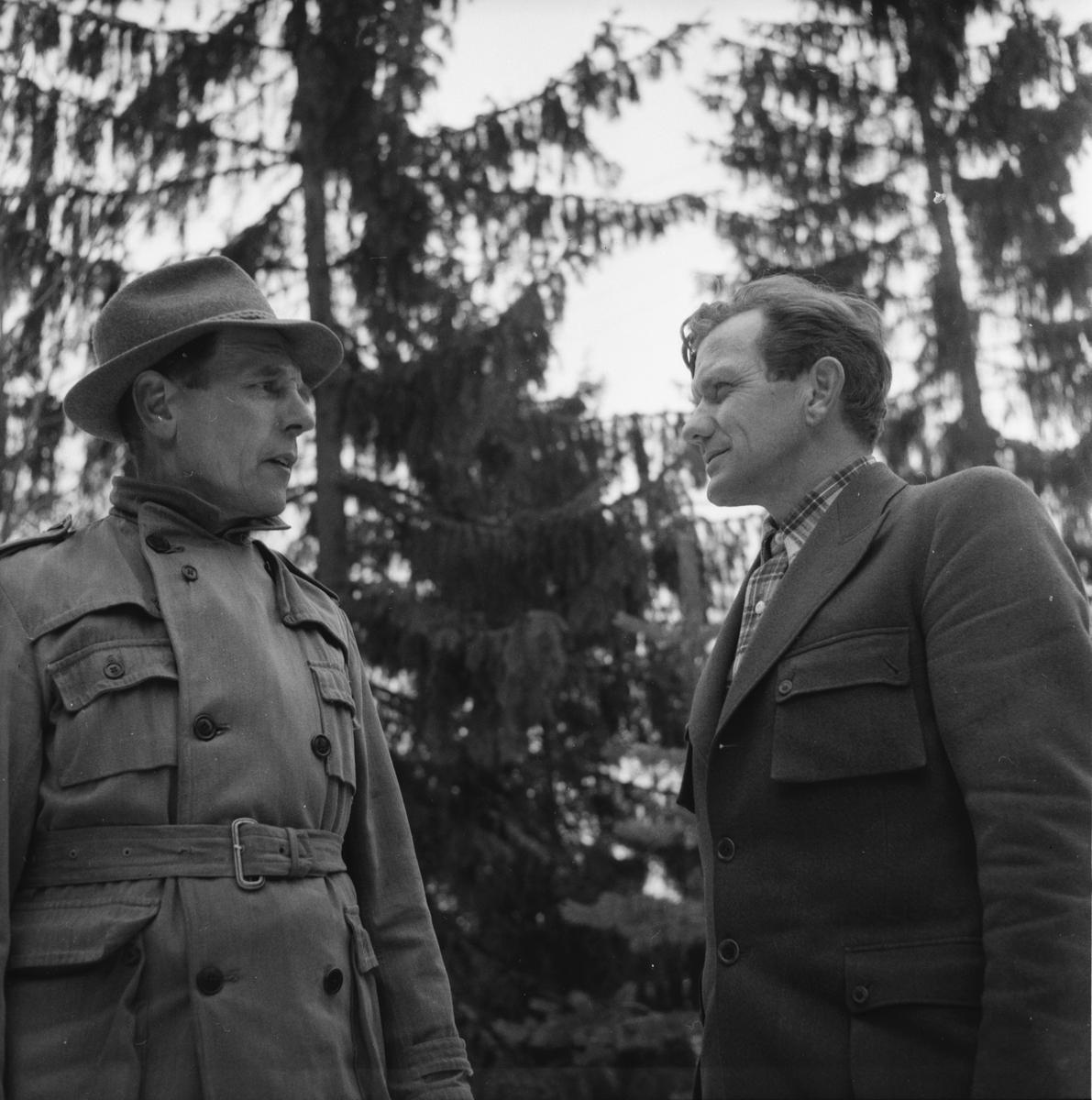 Drivningar på Håsnäs. Josef Lindberg. Söderala april- 1956