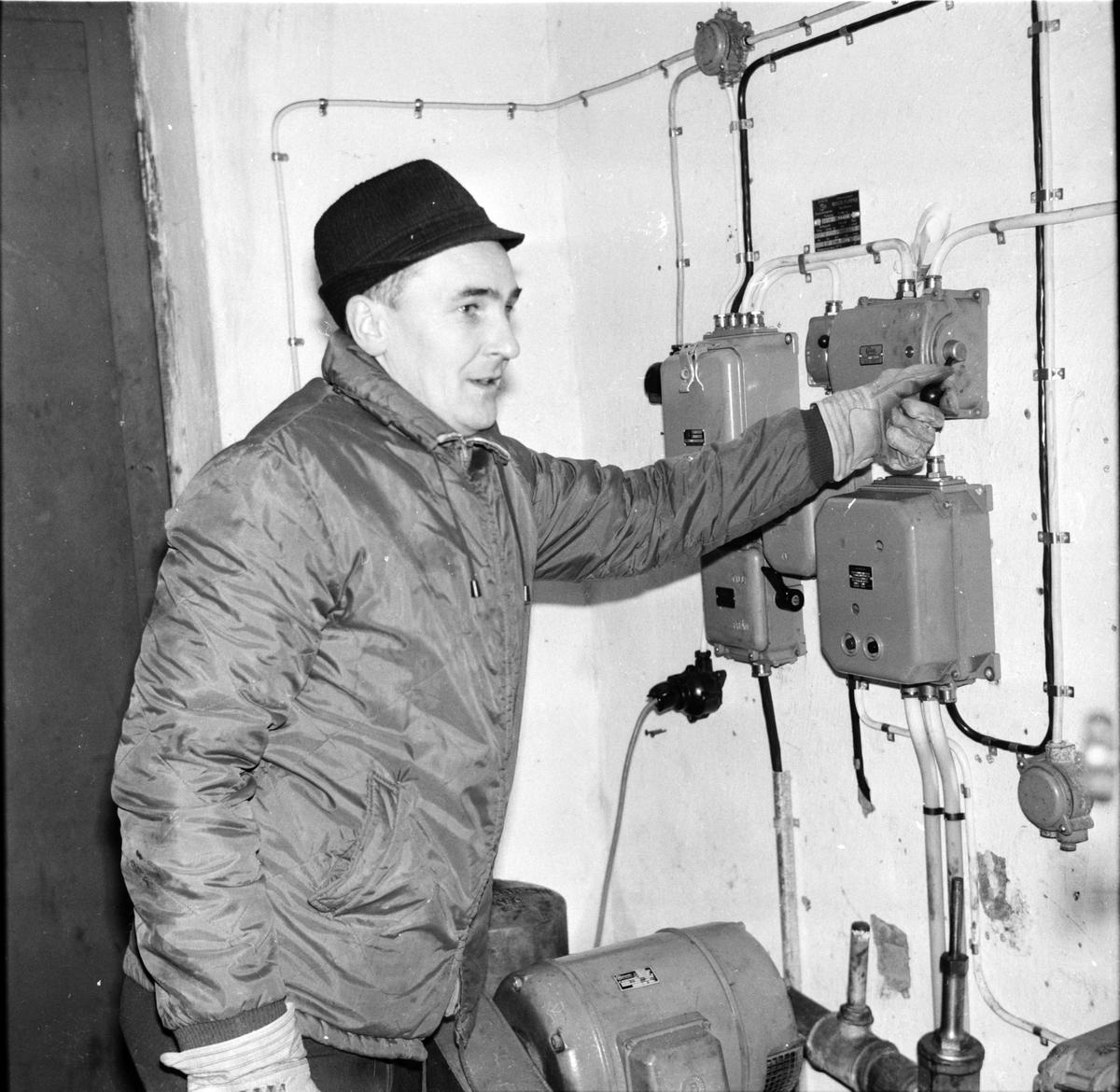 Flästa, Den nya pumpstationen, Januari 1968