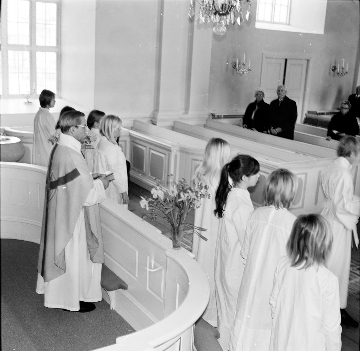 Undersvik, Påsken 1970 i kyrkan, April 1970