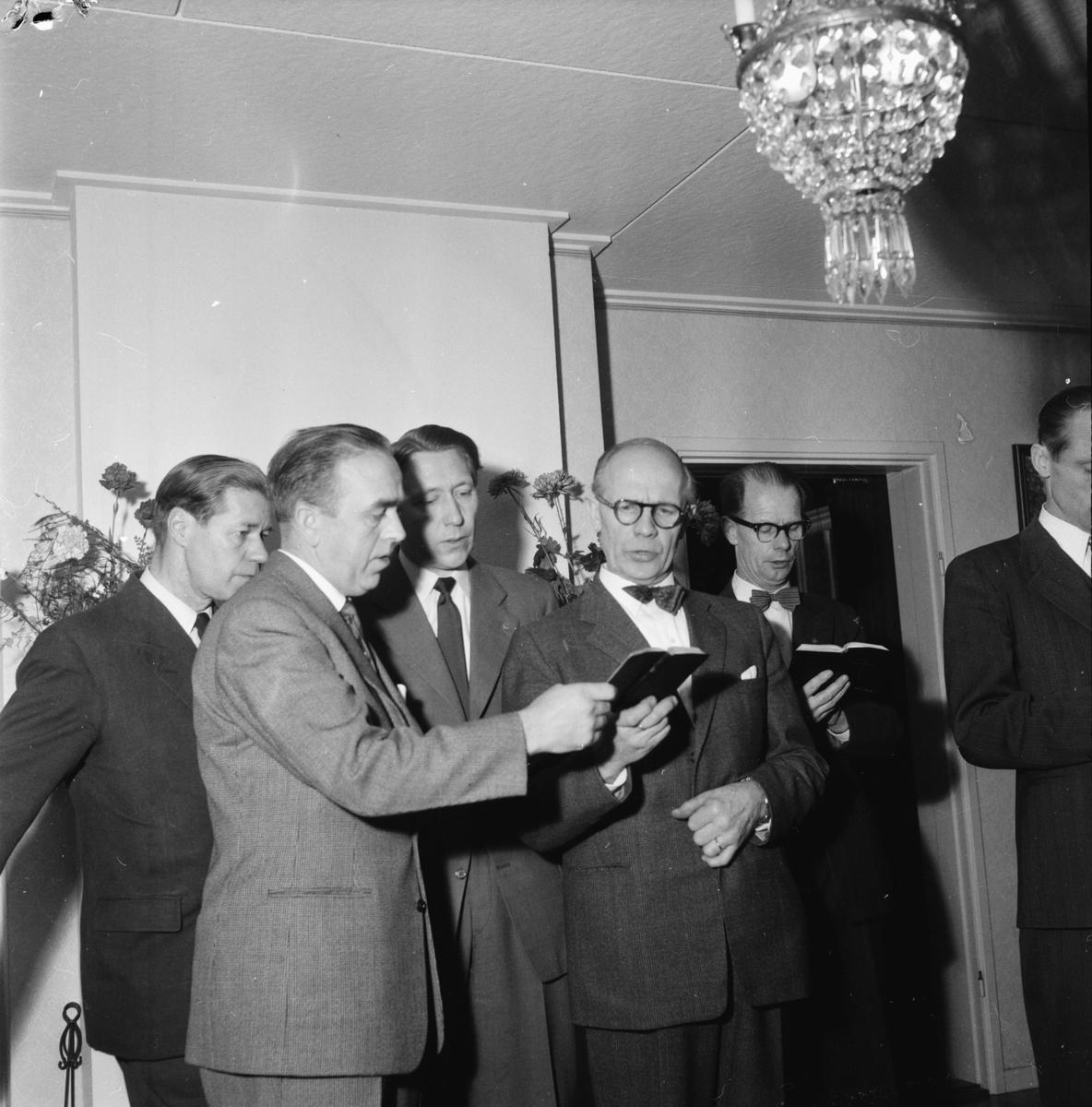 Kyrkoherde Åke Bungner, Radioandakt på folkhögskolan, 1957