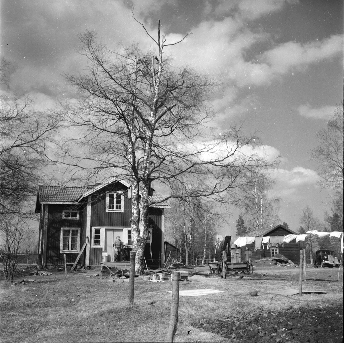 Vittsjöbo. Familjen Rasmusson Mållångsbo. 10/5-1960