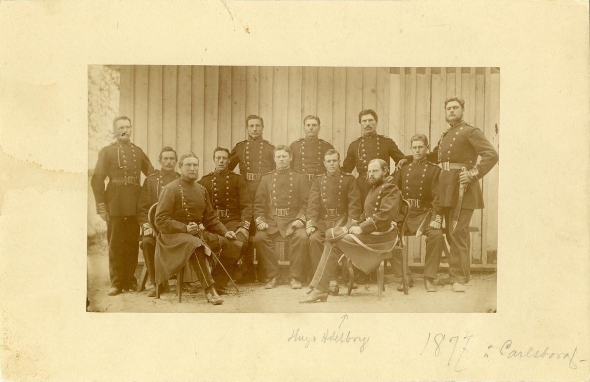 Grupporträtt av officerare på Karlsborg 1877.