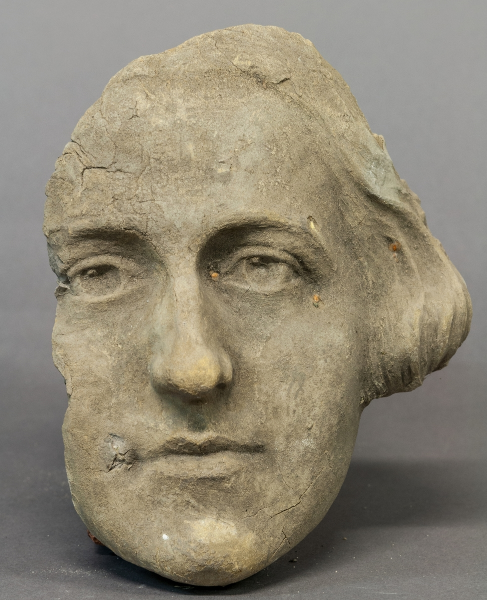 "Skiss i terracotta, ansikte till ""La Parisienne""."