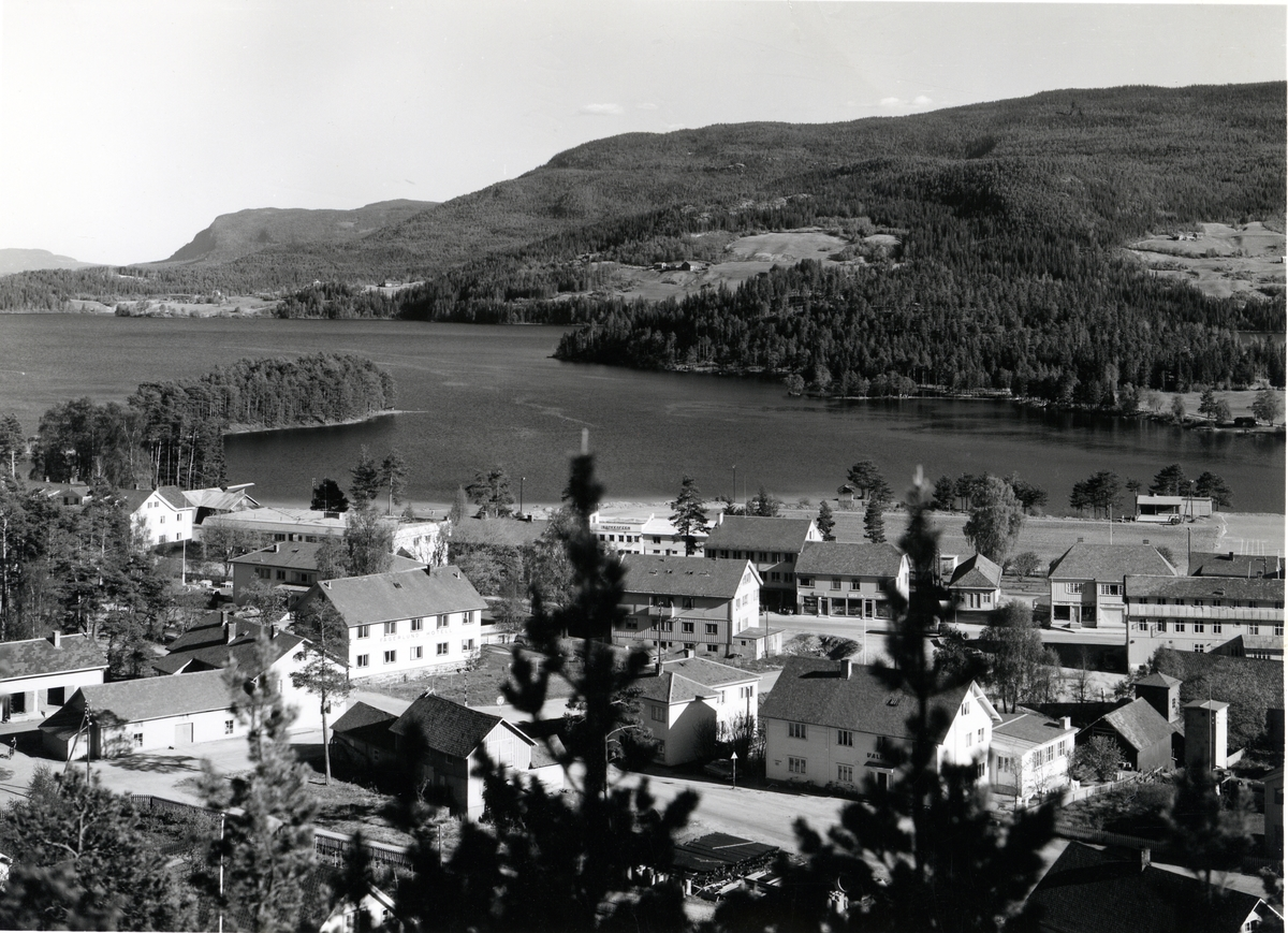 Oversikt over Fagernes sentrum.