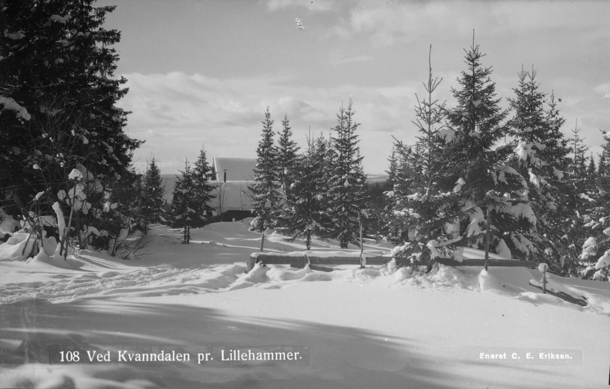 Vinter i Kvanndalen ved Lillehammer.