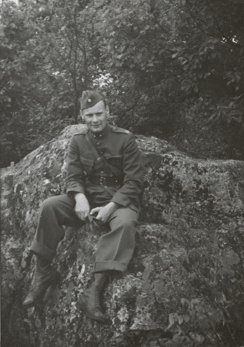 Löjtnant Guy Faugust från Södermanlands regemente I 10.