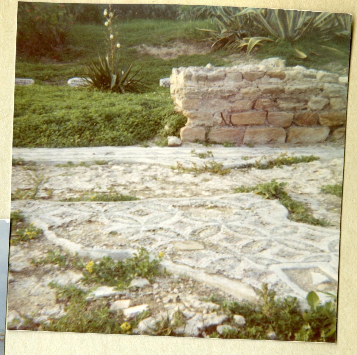 Bilden föreställer runinerna av Karthago och är tagen i samband med minfartyget Älvsnabbens långresa 1966-1967.