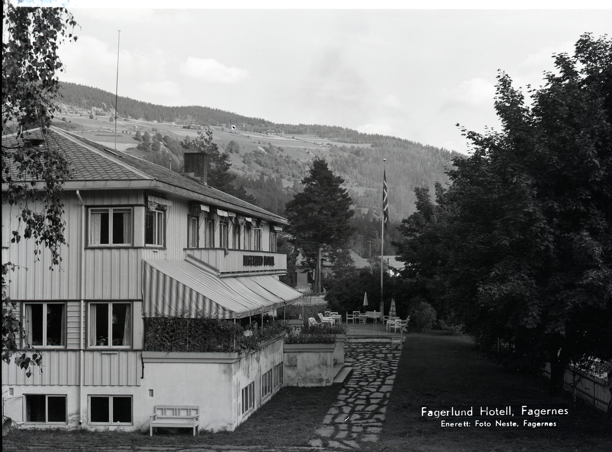 Fagerlund hotell, Fagernes.