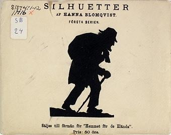 """Enligt liggaren: """"Silhuetter av Hanna Blomqvist, 1:a serien."""""""