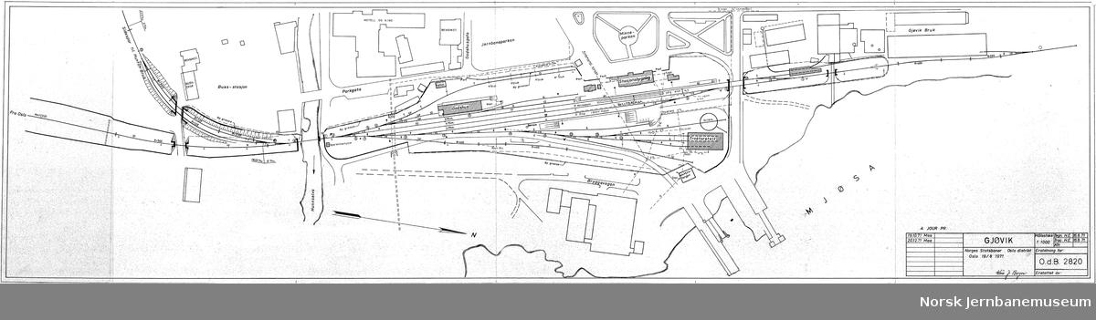 Gjøvik stasjon - sporplan