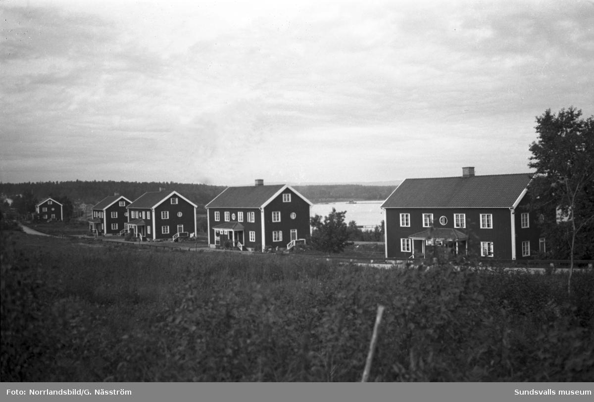 Östrands fabriksområde och gamla arbetarbostäder.