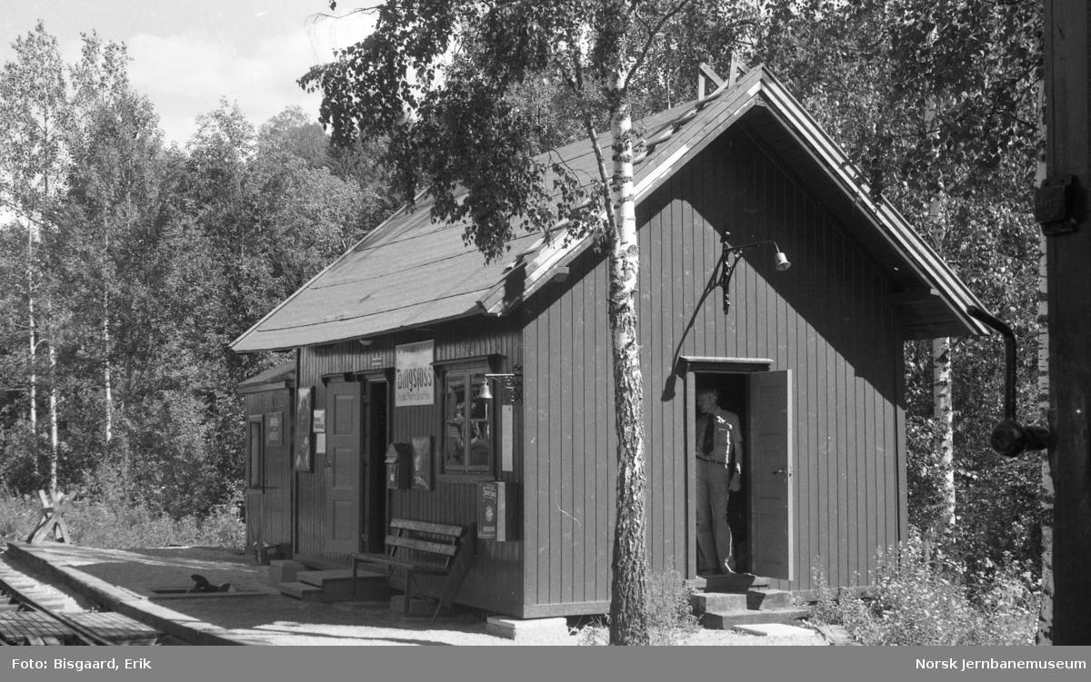 Bingsfoss stasjonsbygning på Urskog-Hølandsbanen