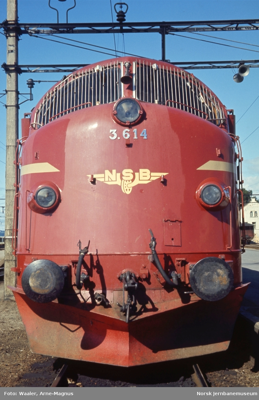 Diesellokomotiv Di 3 614 foran tog 301