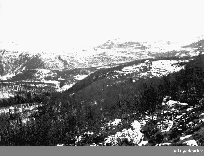 Landskap, Sudndalen, Rishovd, vinter, Gardsbruk,