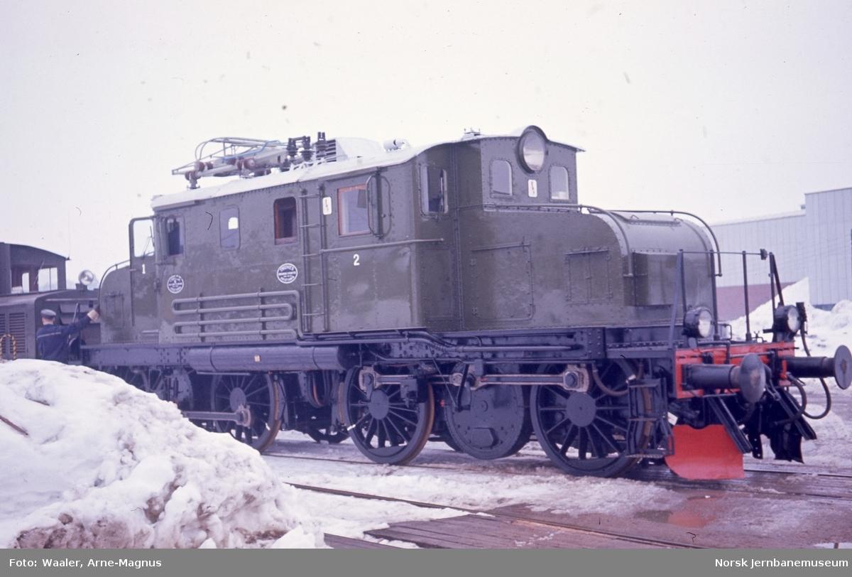 Rjukanbanens elektriske lokomotiv nr. 14 - tidligere NSB El 1.2001 - etter hovedrevisjon, foto på Grorud