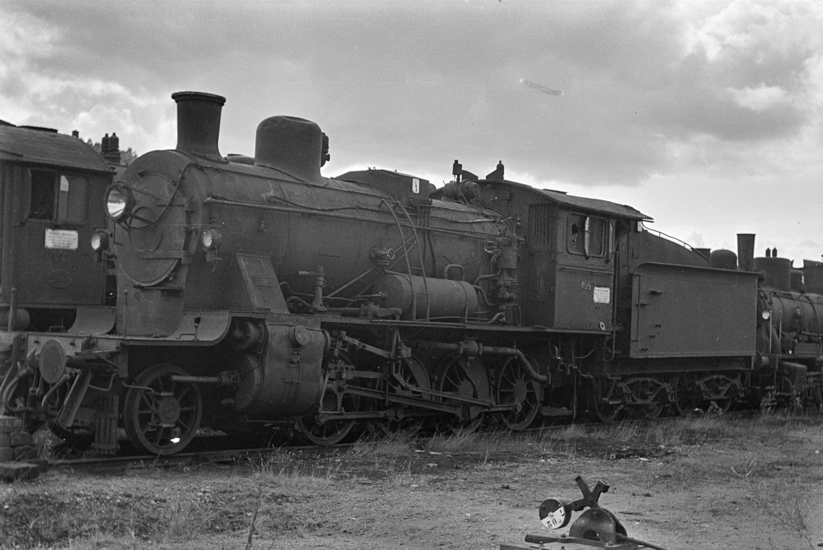 Damplokomotiv type 24c nr. 405 hensatt i Lodalen i Oslo.