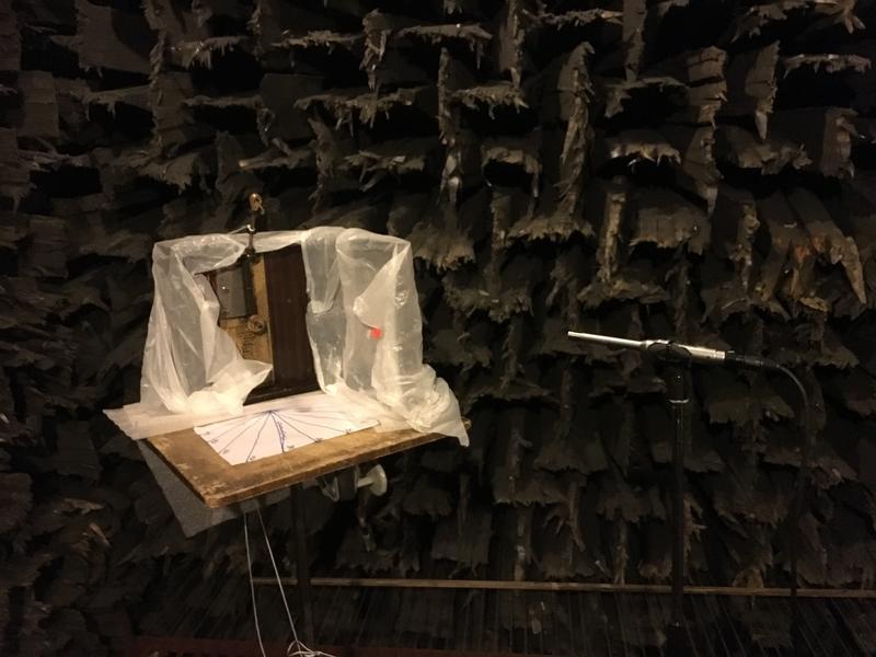 1. Oppsett i ekkofritt rom med to mikrofoner på ulik avstand (Foto/Photo)