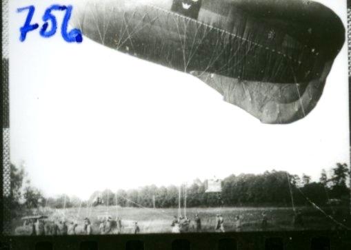Fältballong, förankrad. Ing 3. Tysk ballong, typ Ae.